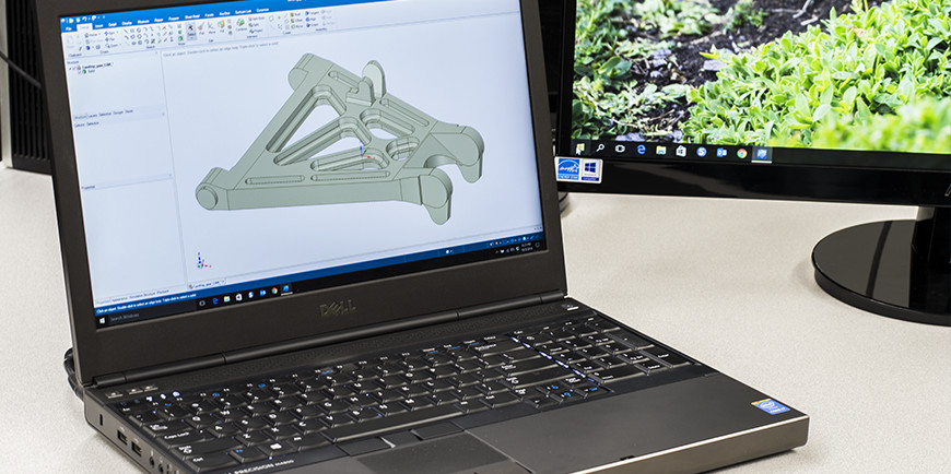 CAD Design on Laptop
